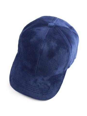 Best Casual Faux Suede Baseball Cap CADETBLUE