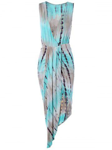 Store High Slit Tie-Dyed Asymmetric Dress