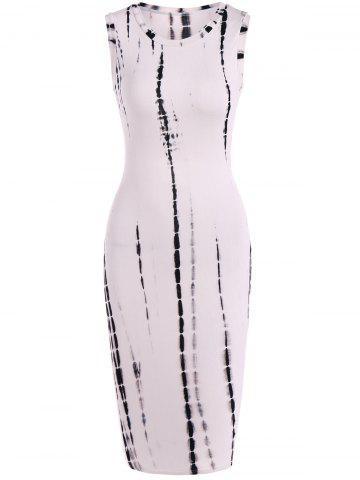 Hot Snake Print Hollow Out Bodycon Dress