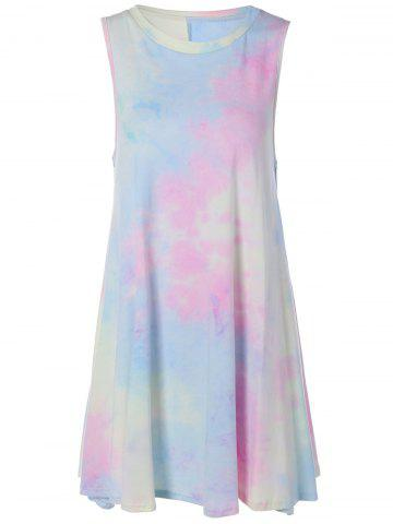 Shop Tie-Dyed Mini Swing Dress