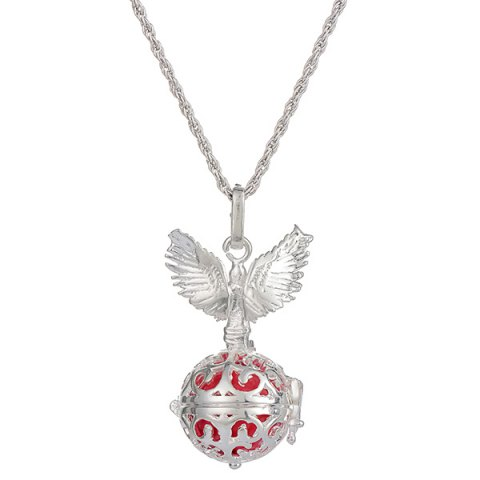 Cheap Guardian Angel Wings Pregnant Bead Locket Necklace