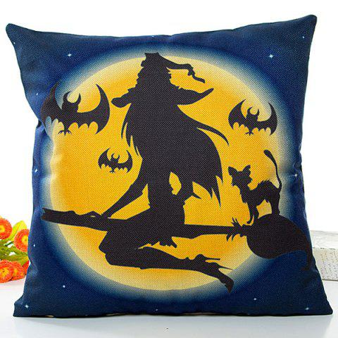 Fashion Halloween Witch Printed Pillow Case