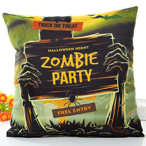 Shops Halloween Zombie Party Printed Pillow Case