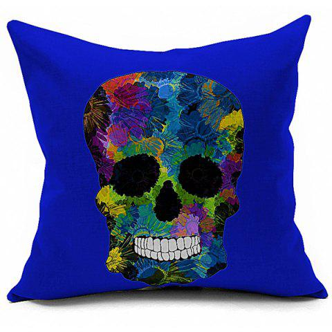 Hot Retro Halloween Colorful Skull Printed Sofa Cushion Pillow Case COLORMIX