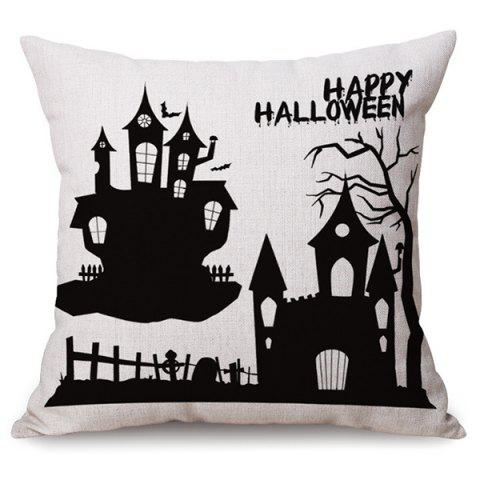 Trendy Antibacteria Sofa Cushion Happy Halloween Printed Pillow Case