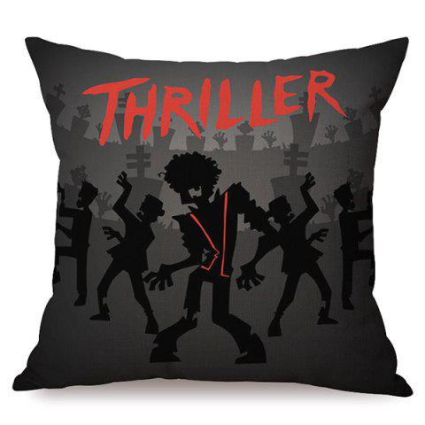 Chic Durable Halloween Thriller Sofa Cushion Printed Pillow Case COLORMIX