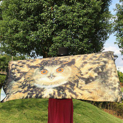 Unique 3D Owl Rectangle Scarf LIGHT BROWN