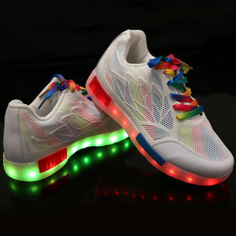 Buy Led Luminous Colored Shoelace Hollow Out Sneakers