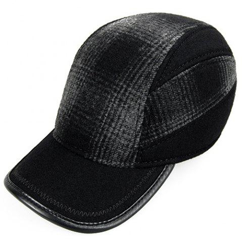 Affordable Outdoor Concealed Plaid Pattern Earmuff Design Baseball Hat