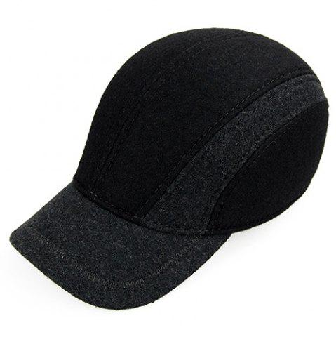 Outfits Outdoor Color Block Earmuff Design Baseball Hat