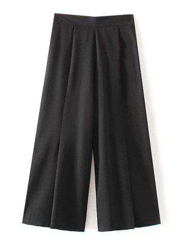 New Elastic Waist Pleated Chiffon Pants
