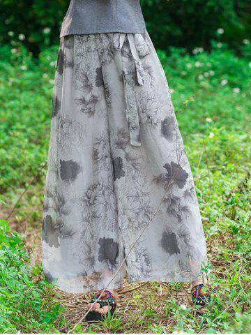 Outfits Palazzo Chiffon Floral Flowy Culotte Pants