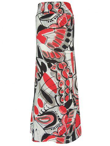 Chic Butterfly Printed Maxi High Waisted Bohemian Skirt