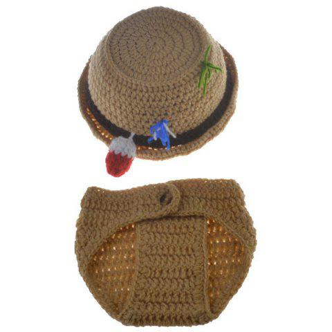 2PCS Infant Crochet Bucket Hat Photographie Tenues