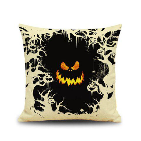 Buy Halloween Monster Face Design Cushion Pillow Case COLORMIX
