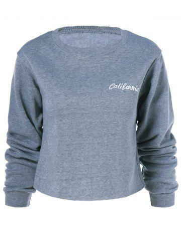 Affordable California Long Sleeve Sweatshirt GRAY M