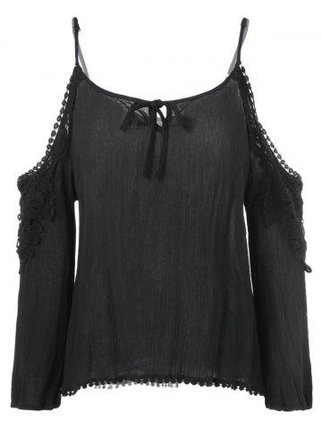 Buy Cut Out Openwork Blouse