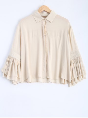 Online Loose Fitting Bell Sleeve Blouse