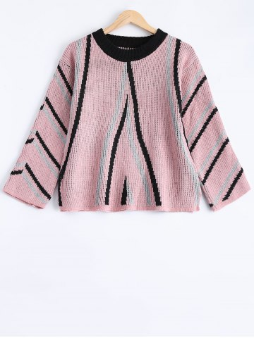 Hot Striped Crewneck Pullover Sweater