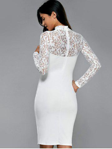 Lace Insert Openwork Slimming Bodycon Dress от Rosegal.com INT