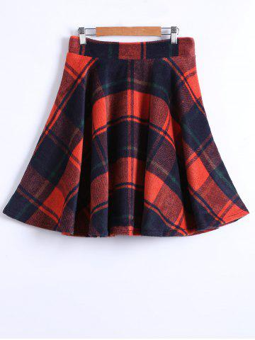 Unique Checked Winter Skater Skirt