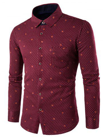 Outfit Long Sleeve Palka Dot Printed Thermal Shirt