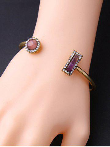 Fancy Natural Stone Rectangle Round Bracelet