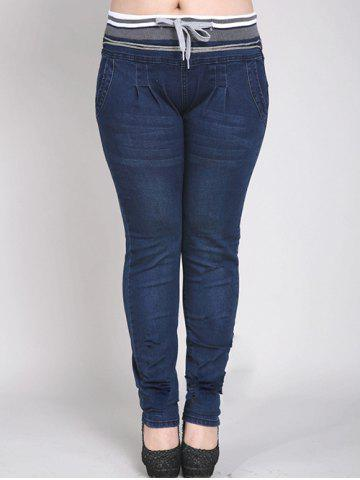 Outfits Drawstring Waist Slimming Pencil Jeans