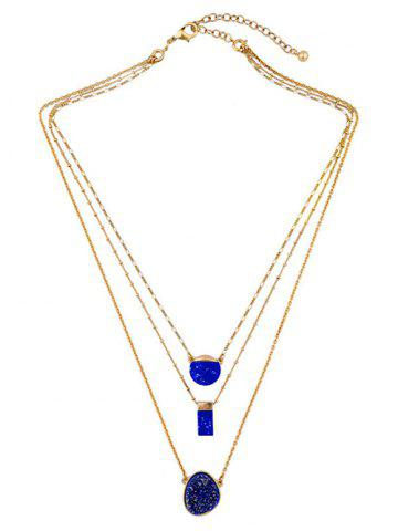 Best Layered Rectangle Faux Stone Necklace