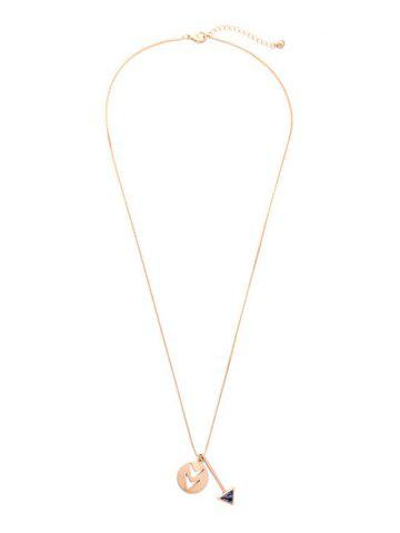 Shops Natural Stone Openwork Arrow Necklace