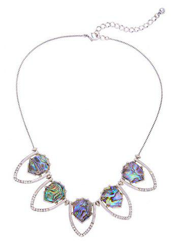 Outfit Rhinestone Faux Stone Geomrtric Necklace