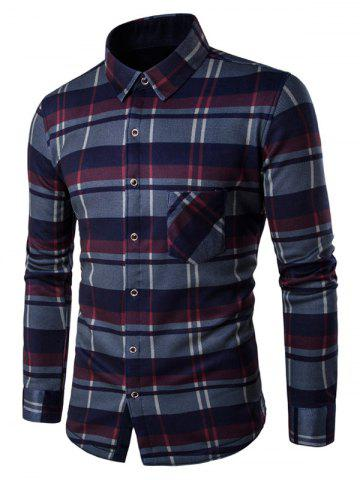Latest Fleece Lined Button Up Checked Shirt