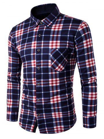 Online Long Sleeve Plaid Flannel Lined Shirt