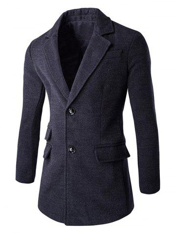 New Back Vent Lapel Single Breasted Coat