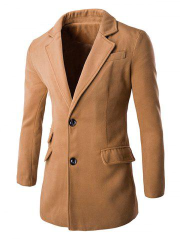 Cheap Back Vent Lapel Single Breasted Coat