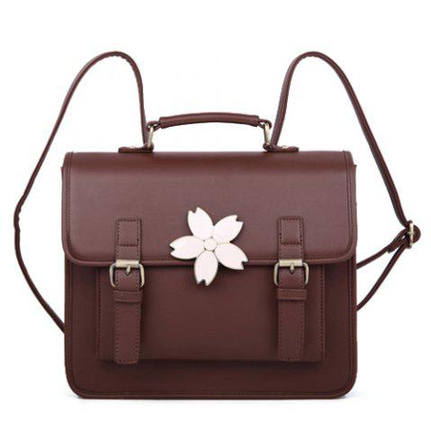 Sale Retro Sakura Embellished Satchel Bag