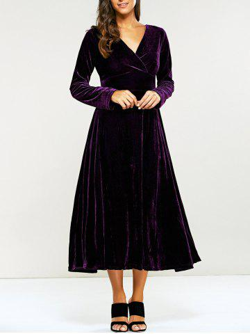 Long Sleeve Tea Length Dress Free Shipping Discount And Cheap