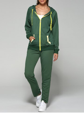 Trendy Zip Up Hoodie and Joggers Pants