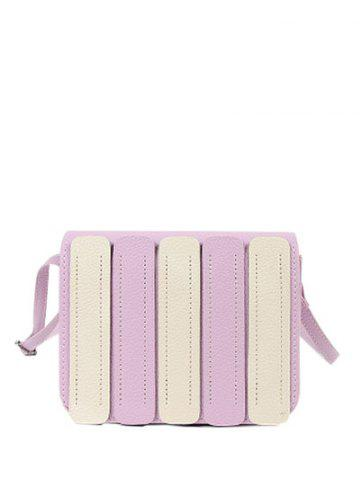New Color Spliced Stitching Covered Closure Crossbody Bag