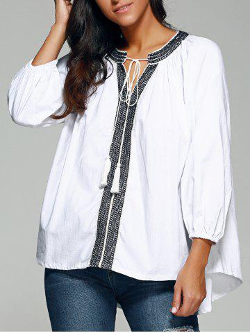 Store Ethnic Style High Low Blouse