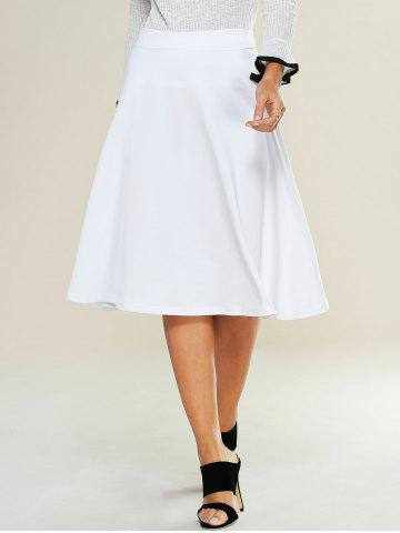 Unique High Waist Zipped A Line Skirt