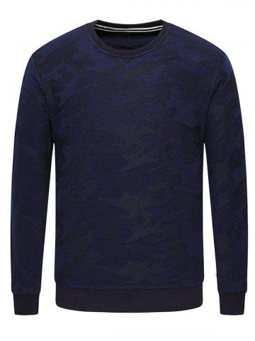 Buy Long Sleeve Texture Crew Neck Sweatshirt