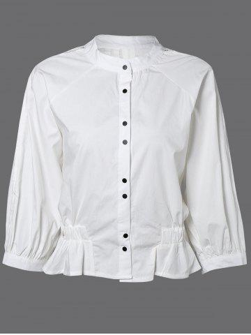 Hot Button Down Ruched Blouse