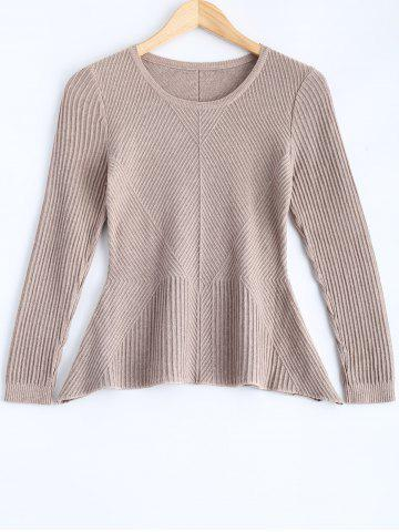 Ribbed Long Sleeve Pullover Sweater