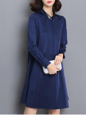 Outfit Long Sleeve Loose Fitting Mini Shirt Dress