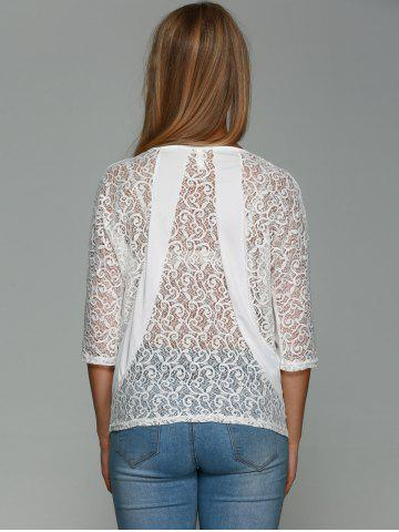 Hot Three Quarter Sleeve Lace Back T-Shirt