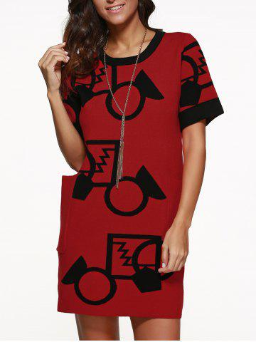 Trendy Pullover Knit Dress with Big Pocket
