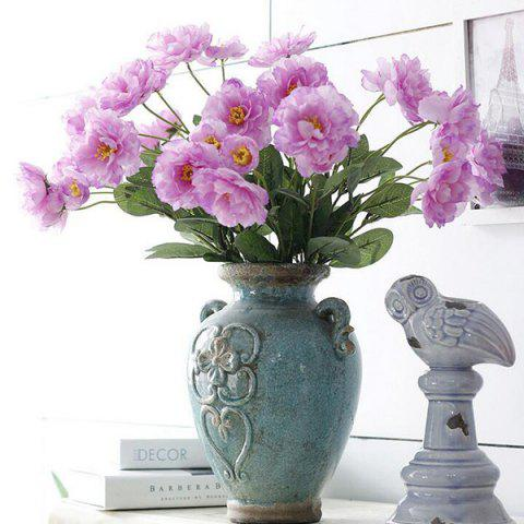 Outfits 2 Heads Real Touch Home Decoration Artificial Flower PURPLE