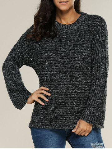 Fashion Slouchy Pullover Ribbed Sweater