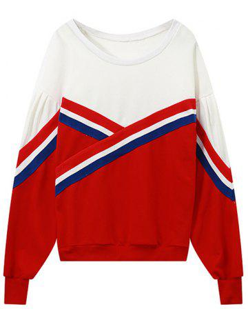 Outfits Round Neck Colour Block Sweatshirt